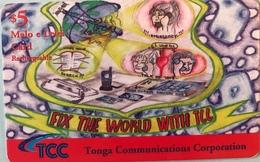 TONGA  -  Prepaid  - TCC - $5 - Tonga