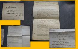 """Maison Du Roi 1821 Pour AUCH, Lettre De L'auteur De L'estampe """"Baptême Du Duc De Bordeaux"""" , CHAMBORD ; PAP10 - Autografi"""
