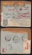 POSTE MARITIME - LE LACONICOS /1939 LETTRE CENSUREE - MULTIPLES REEXPEDITIONS - VOIR DETAIL (ref 7747) - Storia Postale