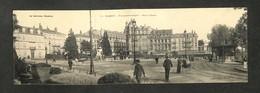 54 - NANCY - Vue Panoramique - Place Thiers - Carte Double - 1905 - RARE - Nancy