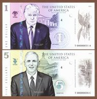 MAKE AMERICA GREAT AGAIN Set 2 Pcs 2017 Polymer UNC. Donald Trump & Mike Pence - Andere