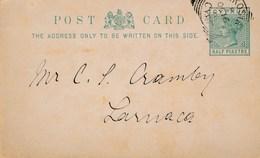 Carte  Entier Postal Entiers Postaux CHYPRE CYPRUS NICOSIE NIKOSIA Pour LARNACA - Cyprus