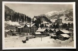Gstaad MOB Winterliche Dorfansicht - BE Berne