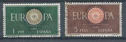 Espagne YT N°975/976 Europa 1960 Oblitéré ° - 1960
