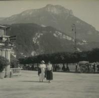 Suisse  Brunnen Quai Sur Axenstein Ancienne Photo Stereo Possemiers 1920 - Stereoscopic