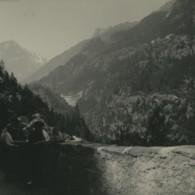 Suisse Route De La Tête Noire Chatelard Ancienne Photo Stereo Possemiers 1920 - Stereoscopic