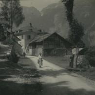 Suisse Village De Tête Noire Hotel Ancienne Photo Stereo Possemiers 1920 - Stereoscopic