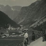 Suisse Village De Trient Finhaut Ancienne Photo Stereo Possemiers 1920 - Stereoscoop