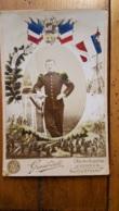 PHOTO SUR CARTON  GIRARDOT VERDUN HONNEUR PATRIE AU 18 Em REGIMENT CHASSEURS A PIED - Guerre, Militaire
