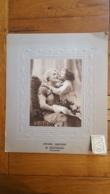 CALENDRIER ET PHOTO GRAND FORMAT  1935 EPICERIE MERCERIE ROUSSEAU A NACHAMPS  CHARENTE MARITIME  39 X 33 CM - Big : 1921-40