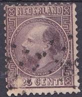 1867 Koning Willem III 25 Cent Violet Tanding 12 ¾ : 11 ¾ Type I NVPH 11 I A (albumvuller) - 1852-1890 (Wilhelm III.)