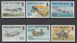 2013 British Virgin Islands Flight Centenary Aviation Airplanes Helicopters Complete Set Of 6 MNH - British Virgin Islands