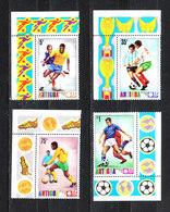 Antigua   -  1974.  Serie Con Contorno. MNH Series With Side Dish. - Coppa Del Mondo