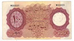 Pakistan OLD 100 Rupees, 1953, Used, See Scan. - Pakistan
