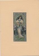 J60 - Carte Double - Femme Art Nouveau Signé Par Bliggen - Other