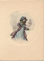 J60 - Carte Double - Femme Art Nouveau En Médaillon - Autres