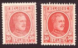 "Belgique 1922-27 COB 199 -199b) 30c  ""type Houyoux"" Cond. - Neuf - Cote €2.10 - 1922-1927 Houyoux"