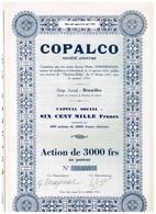 Titre Ancien - COPALCO - Société Anonyme - Titre De 1951 - Agriculture
