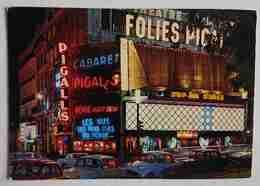 PARIS LA NUIT - PLACE PIGALLE - Cabaret Folies - Nude Show - Theatre - Vg F3 - Parigi By Night