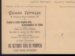 Postal Publicitario CHIADO TERRASSE Salão Animatographico - Rua Antonio Maria Cardoso LISBOA 1910s Portugal - Lisboa