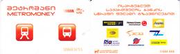 Transport  Card  Georgia. Tbilisi. Metro/bus 2019 - Russia