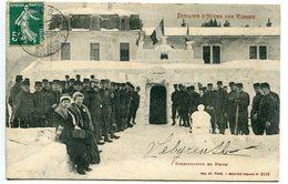 CPA 1910 * Semaine D'Hiver Des Vosges ( Gérardmer ) Construction En Neige ( Labyrinthe Manuscrit ) Militaires - Gerardmer