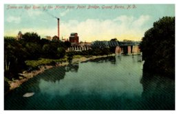 North Dakota Grand Forks , Red River North From Point  Bridge - Autres