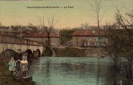 COURCELLES-les-AUBREVILLE. Cpa Colorisée Et Toilée . -  Le Pont.  (scans Recto-verso) - France