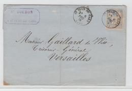 GARD - 29 - St.HYPOLITE Du GARD CàD Type 16 / Sage / LAC De 1876 Pour Versailles B/TB - Marcophilie (Lettres)