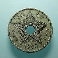 Belgian Congo 20 Centimes 1908 - Congo (Belga) & Ruanda-Urundi