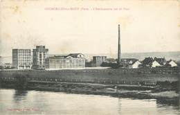 """CPA FRANCE 27 """"Courcelles Sur Seine, L'Amidonnerie Vue Du Pont"""" - Altri Comuni"""