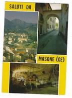 4127 - SALUTI DA MASONE GENOVA 3 VEDUTE 1991 - Altre Città