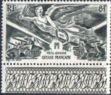 Guyane Avion N** Yv:28 Mi:226 Anniversaire De La Victoire Bord De Feuille - Französisch-Guayana (1886-1949)