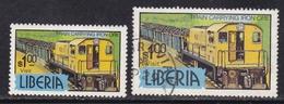 LIBERIA Trains Railway MNH**\used CV 10€ - Treni