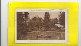 CENTENAIRE DE L'INDEPENDANCE DE LA BELGIQUE - LES ETANGS AU SECTEUR SUD . EXPOSITION DE LIEGE 1930 . AFFR AU VERSO 2 SCA - Unclassified