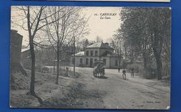 CARIGNAN    La Gare   Animées  écrite En 1922 - France