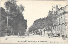 REIMS : BOULEVARD DE LA REPUBLIQUE - Reims