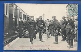 Le Général Brugère   Recevant La Mission Américaine En Gare De Brienne Le Château   Animées    écrite En 1906 - Characters