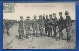 Délégation Américaine Assistant à La Bataille De Chavanges  Animées    écrite En 1906 - Manoeuvres