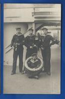 Carte Photo   3 Marins   Allemands  Pipes Réserviste - War 1914-18