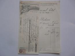 VIEUX PAPIERS - FACTURE ET TRAITE : Etoffes Pour Ameublements - Edmont PETIT - Rue Du Mail PARIS - 1900 – 1949