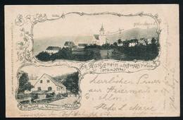 AK/CP St. Katharein  Offenegg B. Weiz   Weizklamm Gel/circ.  1902   Erhaltung/Cond. 2-/3  Nr. 00945 - Weiz