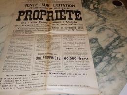 ANCIENNE AFFICHE DU NOTAIRE DE OUDJDA MAROC  1932 - Affiches
