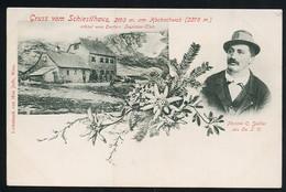 AK/CP Gruss Vom Schiestlhaus  Alfenz  Hochschwab   Carl Sailler   Ungel/uncirc.um  1900   Erhaltung/Cond. 2  Nr. 00947 - Alfenz