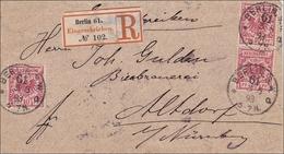 Brief Von Berlin Nach Altdorf Bei Nürnberg 1893 - Germany