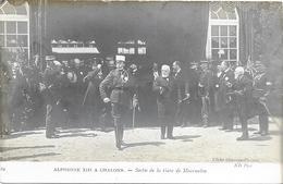 CHALONS SUR MARNE : ALPHONSE XIII A LA GARE - Châlons-sur-Marne