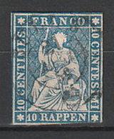 Schweiz 14 O - Oblitérés