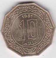 Algerie 10 Dinar Essai 1981 Aluminium-Bronze, KM# E7 - Algérie