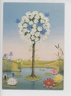 "Charlotte Haas ""baum Mit Blauen Faltern"" Arbre Papillon Bleu (mare Nenuphar Iris  Jonc) Cp Vierge - Illustrateurs & Photographes"