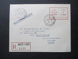 Besetzung 2.WK Frankreich Kessel St - Nazaire Einschreiben / Recomandee Batz S/Mer Nach St. Nazaire Geprüft Tust BPP - Liberation
